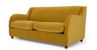 helena sofabed plush turmeric velvet made com