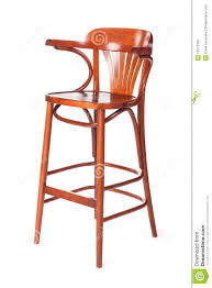 Child High Chair Old Wooden High Chair For Child With Back Stock Photo Image