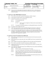 sop templates samples