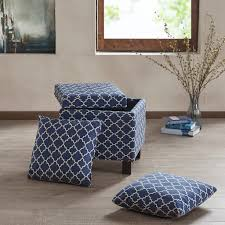 ottoman and matching pillows madison park shelley square storage ottoman with pillows ebay