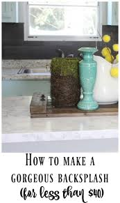 How To Do A Backsplash by Our 40 Backsplash Using Vinyl Flooring Re Fabbed