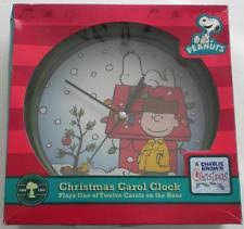 snow family carol clock plays 12 carols 8x8x1 ebay