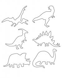 multiple dinosaur stencils printable crafts free printable