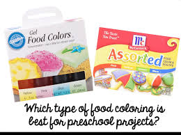 preschool ponderings which type of food coloring to use