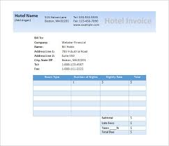 hotel invoice hourly invoice template excel dummy invoice