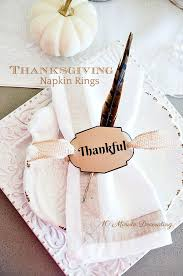 thanksgiving 10 minute napkin ring diy stonegable