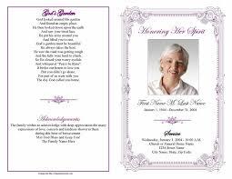 Sample Memorial Programs Funeral Program Templates Funeral Program Templates Purple Frame
