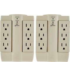 s 2 6 outlet surgeprotection swivel outlets by globe electric