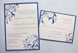 wedding invitation program program to design wedding invitations royal blue apple green