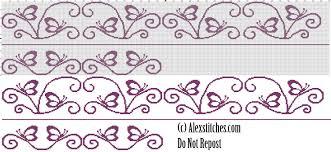 butterfly towel free cross stitch pattern free cross stitch