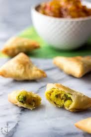 potato samosas and mango chutney u2013 honest cooking