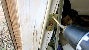Exterior Door Jamb Kit Door Kicked In Repair Fixing Damaged Door Jamb With
