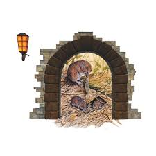 cute rat hole wall decal sticker moule u0027s nest wall art applique