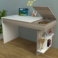 bureau writing desk bureau white avola computer workstation home office