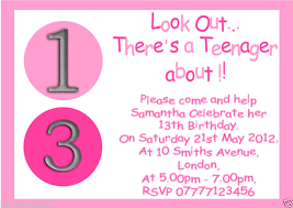 13th birthday invitation afoodaffair me