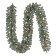 shop holiday living indoor outdoor pre lit 9 ft l pine garland