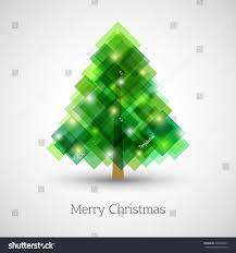 abstract christmas tree made green squares stock vector 336548507