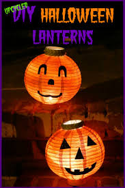 diy halloween pumpkin lanterns upcycled crafts