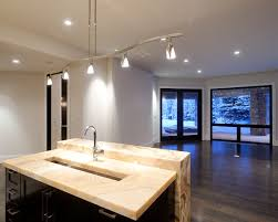 Contemporary Kitchen Lighting Interior Design Contemporary Kitchen Brunello Granite Island