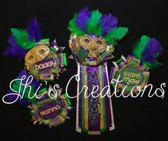 mardi gras pins new orleans mardi gras themed baby shower pin corsage set in