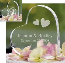 glass wedding cake toppers monogram heart cake top wedding topper sincerity weddings