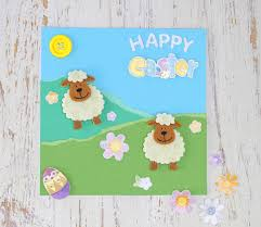 5 easy easter cards to make easter easter card and sheep