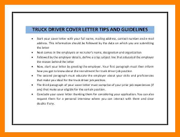 driver cover letter 11 truck driver cover letter apply form
