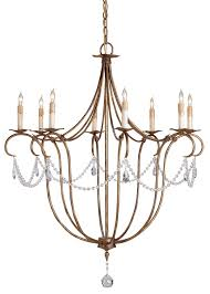Crystal And Gold Chandelier Crystal Light Chandelier Currey And Company