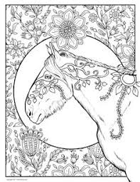 hard coloring pages horse doodle art animal coloring
