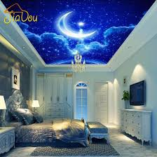 wholesale custom mural wall paper european 3d stereo ceiling