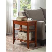 convenience concepts american heritage 3 tier cherry end table