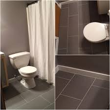 12x24 grey porcelain tile for the main bathroom wall color is