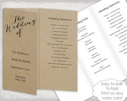 trifold wedding program paper trifold wedding program template wisteria and silver