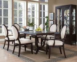 Dark Dining Room by Dark Dining Room Table With Light Chairs Dining Room Tables
