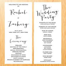cool wedding programs 1000 ideas about wedding interesting wedding ceremony cards
