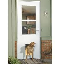 larson storm door replacement glass shop larson white high view tempered glass pet door storm door