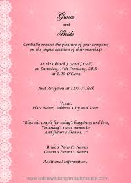 Indian Wedding Card Matter For Marriage Invitation Card Matter In English Hindu Futureclim Info
