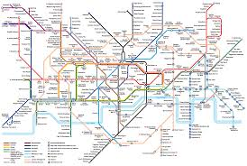 map of the underground in large view of the standard underground map with