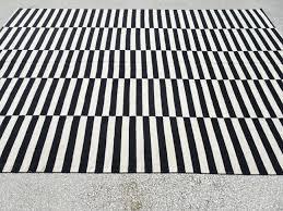 black and white rug 11 2x7 6 feet 340x230 cm vintage home decor black and white rug 11 2