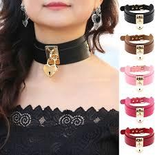 key choker necklace images Women men 100 handmade oversize tall high choker lockable padlock jpg