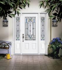 Steel Exterior Doors With Glass Masonite Steel Two Panel Door With Monaco Glass And Sidelites
