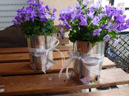 Table Vase Decorations 20 Tin Can Craft Ideas Flower Vases And Plant Pots