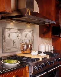backsplash tile ideas for kitchen ceramic material plants mural