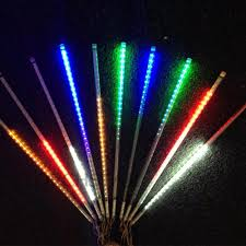 led meteor shower tube lights 12v rgb led meteor shower lights 19 7 double side led tube light
