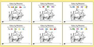 colour phoneme pirate ship phase 2 activity pack colour