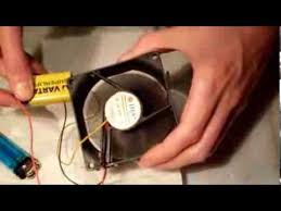 battery operated fan with timer how to make a portable fan using a computer fan and a battery youtube