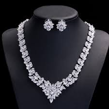 diamond sets design online get cheap gorgeous diamond necklace aliexpress