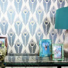 stencils for home decor peacock feather allover stencil reusable wall stencils for easy