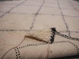 beni ourain north african moroccan diamond berber rug wool hand