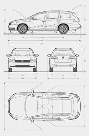 volkswagen drawing volkswagen passat estate 2011 model sheet blue print